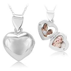 $14.99 - Sterling Silver Heart Locket Pendant