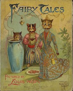 Vintage children's book Fairy tales  - Louis Wain dressed cats