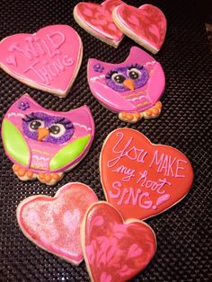 Owl Love - Valentine Cookie Treats    (Owls inspired by Montreal Confections design)--