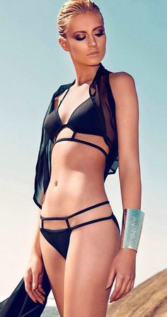 Sexy Strappy Bikini <3 I will one day look good in a swimsuit like this. I just have to get re-inspired