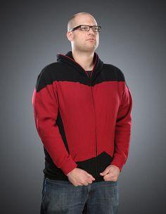 Star Trek: The Next Generation Uniform Hoodie Yes, please. #startrek