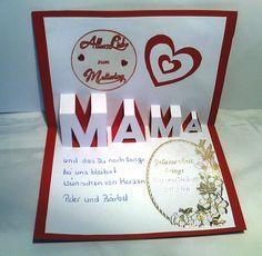 Popup Karte Muttertag innen