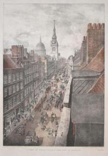 London's Cheapside in 1823.
