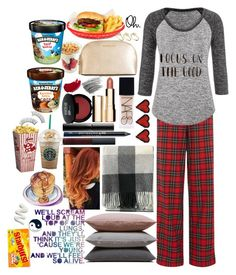 """Triple Sleepover"" by applejice221 ❤ liked on Polyvore featuring Lauren Ralph Lauren, maurices, Hawkins, Pendleton, NARS Cosmetics, MICHAEL Michael Kors, Surratt, Urban Decay, Clarins and Bobbi Brown Cosmetics"