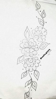 Border Embroidery Designs, Floral Embroidery Patterns, Embroidery Motifs, Ribbon Embroidery, Feather Drawing, Wreath Drawing, Lace Painting, Dot Art Painting, Heart Flower Tattoo