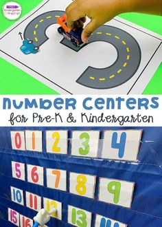 These Number Activities and Centers for Pre-K & Kindergarten provide fun, hands-on practice with number recognition and number word! A great resource that will planning learning activities and lesson plans for your early learners so much easier! #kindergarten #kindergartencenters #prek #prekcenters Kindergarten Math Activities, Number Activities, Kids Learning Activities, Kindergarten Classroom, Number Tracing, Number Words, Number Recognition, Number Formation, Writing Numbers