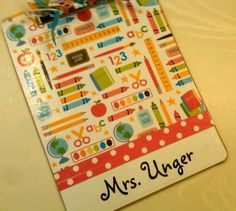 I'd like to make myself a new clipboard - something cute and fancy like this!