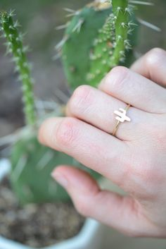 I love this dainty gold ring.