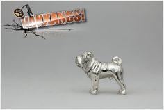 Shar Pei mini sculpture pendant. (sterling silver) http://www.vakkancs.eu/vakkancs_dogs/shar-pei/shar-pei-pendant-silver