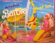 1989  Wet N Wild Barbie Surf Set