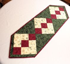 Christmas Table Runner from Cardinal Season Moda by CactusPenguin, $40.00