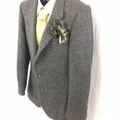 Daniel Hechter Mens Sport Coat Tailored for G.Fox & Co Tweed Wool Herringbone  #DanielHechter #TwoButton