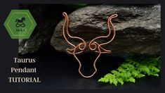 How to wrap a Bull Head - a beginner to intermediate level. This is how i start al my one of a kind pieces. Wire Tutorials, Perfect Music, Taurus, Wire Wrapping, Zodiac, Wraps, Drop Earrings, Make It Yourself, Pendant
