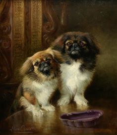 Lilian Cheviot (English, c. 1876 - 1936): Toto and Togo (via Bonhams)