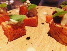 Seared Salmon Sashimi at Kuro.  Click Visit and take a look at our review.