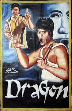 Les affiches de films peintes à la main du Ghana   affiches de films peintes a la main ghana dragon
