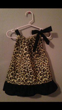 Pillow Case Dress  Size: 12 months  Black & Tan by Sewn4ACause