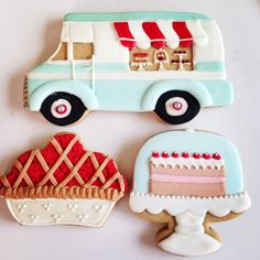 Ice Cream Truck Cookie // bolachasdecoradas