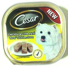 Cesar Dog food with chicken and liver flavor 100 g (3.52 Oz) ** See this great product. (This is an affiliate link and I receive a commission for the sales)