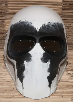 """Army of Two Custom Airsoft Mask and Prop Mask """" Flat Black # 2 """" Airsoft Mask, Airsoft Gear, Oni Mask, Skull Mask, Casco Halo, Deathstroke Mask, Army Of Two, Armadura Cosplay, Paintball Gear"""