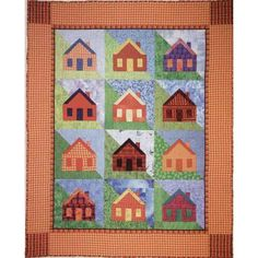 Little House on a Hillside - Innovations quilting patterns by Ruth Powers (innovationsquilts.com to purchase pattern) $8