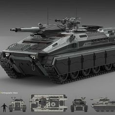Angry Hippo by John Valera on ArtStation. Military Gear, Military Weapons, Army Vehicles, Armored Vehicles, Surplus Militaire, 3d Mode, Tank Armor, Spaceship Design, Futuristic Cars