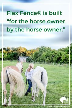 """There are safer fencing options available than the traditional board or PVC fence. Flex Fence® can flex to 6""""-8"""" upon impact, with no splintering. Our 525 Plus Flex Fence® option even comes with a Lifetime LTD warranty! #horse #safety #equestrian  #horseproperty #flexfence #rammfence # horses #dreamfarm #fenceinstaller #installers #contractors #horsefence #vinylfence"""