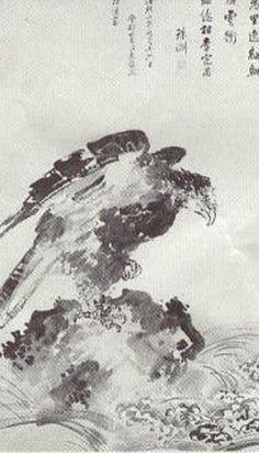 붕새  -북쪽 바다에 사는 상상의 물고기 '곤'이 변해서 된 새이다. '곤'은 크기가 몇천 리나 된다고 하는데, 붕새 또한 등의 길이가 몇천 리나 되는지 알 수 없을 정도로 크다고 한다. 한번에 9만 리를 날아오르는데 날개는 구름처럼 하늘을 뒤덮고 파도가 3천 리에 이를 정도로 큰 바람을 일으킨다. 이 새는 살고 있는 북쪽 바다를 벗어나 끊임없이 남쪽 바다로 날아가려 한다. 이는 세속의 삶(곤)에서 벗어나 영적인 깨달음을 얻은 상태(붕)로 거듭나서 하늘나라(남쪽 바다)로 가려고 하는 인간을 비유하여 나타내는 이야기이다. 즉 붕새는 어디에도 얽매이지 않고 자유로운 정신세계를 마음껏 누리는 위대한 존재를 의미한다.