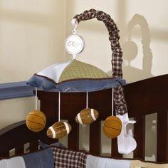 Modern Baby Nursery Decorating Ideas add a baseball and soccer ball too