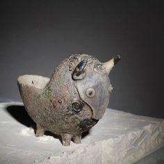 Raku Ceramic Tup Flower Pot