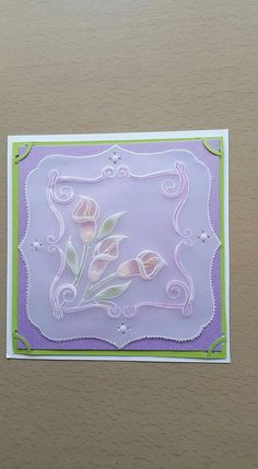 Josephine Whittaker design Parchment Design, Parchment Cards, Hobbies And Crafts, Quilling, Card Ideas, Projects To Try, Card Making, Scrapbooking, Paper Crafts