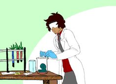 Carlos doing science - HE PROTECTS HIS HAIR FIRST. Probably because he knows Cecil wont let him science any more if he wrecks his perfect hair.