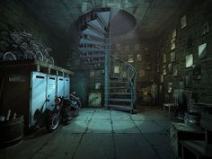 3ds max, vray,  3d interior to hidden object game White Haven mysteries