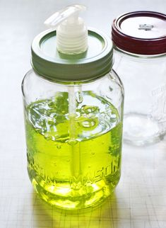 A Mason jar soap dispenser!