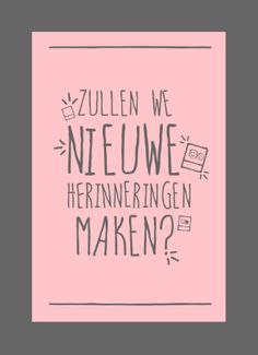 Zullen we nieuwe herinneringen maken? Verstuur deze kaart gratis: http://tinyurl.com/mur3rsh #hallmarkreconnect #weeszuinigopwiejeliefis #hallmark