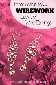 Introduction to Wirework – Easy DIY Wire Earrings