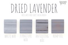 Dried Lavender Finishes #mmsmilkpaint #driedlavender