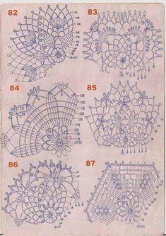 Nadezhda Muravyeva-Balayeva - Her Crochet Filet Crochet, Art Au Crochet, Mandala Au Crochet, Crochet Ball, Crochet Motif Patterns, Crochet Diagram, Crochet Chart, Thread Crochet, Crochet Stitches