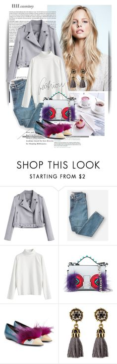 """""""Grey"""" by maja-k ❤ liked on Polyvore featuring Everlane, Fendi and Hermès"""