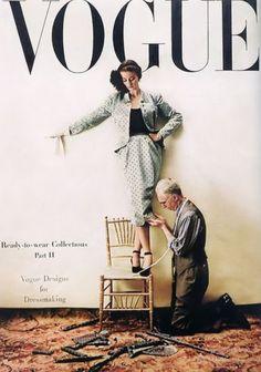 Dorian Leigh, cover photo by Irving Penn, Vogue, September 15, 1946