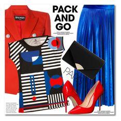 """Pack and Go: Paris Fashion Week"" by duma-duma ❤ liked on Polyvore featuring Balmain, MSGM, Steve Madden, MICHAEL Michael Kors, parisfashionweek and Packandgo"