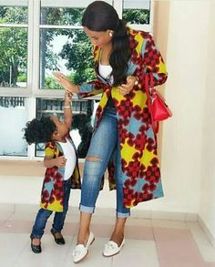 Choose from the best and beautiful matching African ankara styles for mother and daughter. These ankara styles are meant for stunning mother and daughter African Print Dresses, African Fashion Dresses, African Attire, African Wear, African Women, African Dress, African Style, African Prints, Ankara Fashion