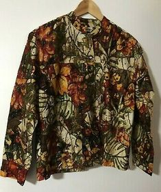 CHICOS SILK LADIES JACKET    eBay Oriental Print, Chico Jacket, Fashion Sale, Silk Top, Blazer Jacket, Black And Brown, Kimono Top, Jackets For Women, Shirt Dress