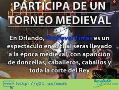 En Medieval Times Dinner & Tournament Orlando podrás cenar mientras disfrutas de un espectáculo de la época medieval con caballos jinetes caballeros torneos doncellas el rey y su corte real ==> http://g2l.us/medt