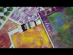 Gelli Arts Printing Plate Review and Demo! - YouTube. TheFrugalcrafter Lindsay Weirich. She's a bit manic but great stuff.