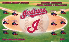 Indians digitally printed vinyl baseball and little league sports team banner. Made in the USA and shipped fast by Banners USA. http://www.bannersusa.com/art/templates_2/digital/banners/vinyl-baseball-team-banners.php