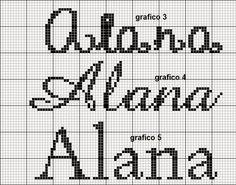 Aline Ponto Cruz e Artesanato: Nomes Femininos