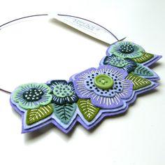 absolutely gorgeous felt necklace