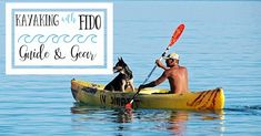 Dogs are not nautical by nature, so you need to help them stay on the kayak at all times.