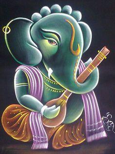 Shri Ganesh! Ganesh Pic, Shri Ganesh, Ganesha Art, Shiva Art, Krishna Art, Hindu Art, Lord Krishna, Indian Art Paintings, Abstract Paintings